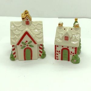 Nice Lenox Holiday Salt & Pepper Shakers